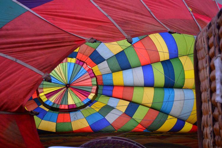 Close-up of hot air balloon