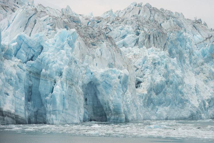 Scenic view of a glacier in alaska