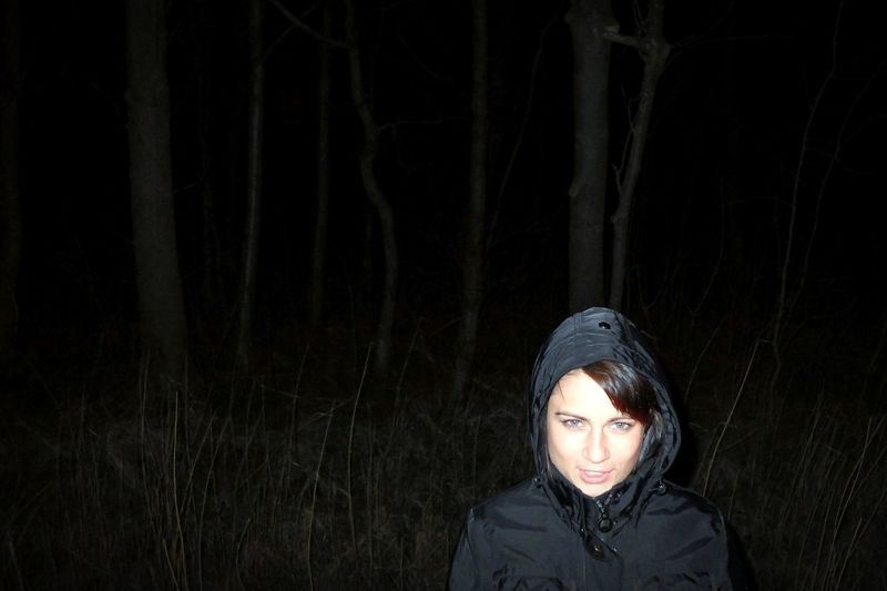 Portrait At Night In The Forest Open Edit Learn & Shoot: Single Light Source