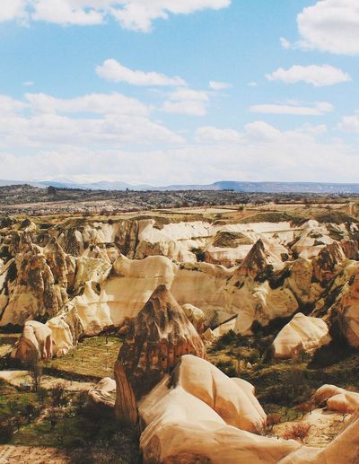 Cappadocia! My Year My View Sky Nature Geology Rock - Object Tranquility Beauty In Nature Scenics Landscape Tranquil Scene Physical Geography Day No People Cloud - Sky Arid Climate Outdoors Rock Hoodoo