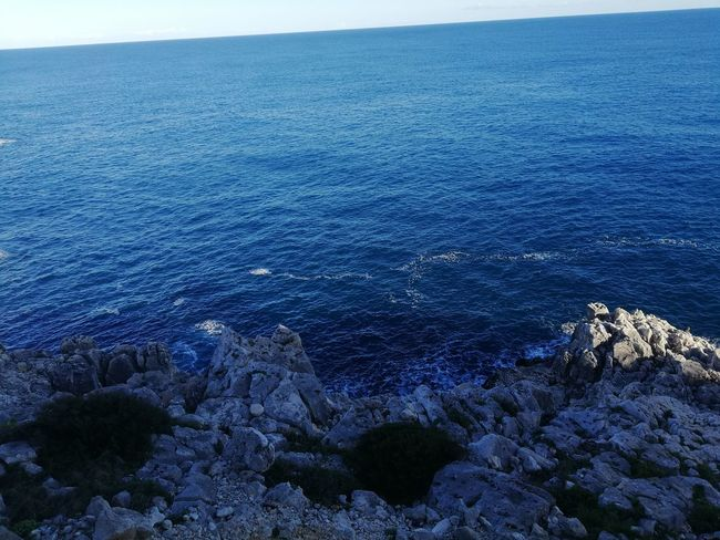 no filter blue magic Sea Blue Water Outdoors Nature Day High Angle View