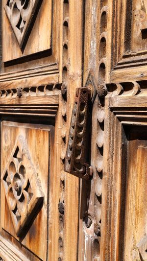 Architecture Building Exterior Built Structure Close-up Closed Door Doorbell Doorbells History La Laguna Low Angle View No People Old Protection Safety Tenerife Tenerife Island Teneriffa The Past Türklopfer Wall - Building Feature Wood - Material Wooden