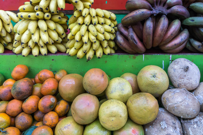 Banana Naranja Platano Abundance Choice Close-up Consumerism Day Food Food And Drink For Sale Freshness Fruit Healthy Eating Market Market Stall No People Outdoors Retail  Small Business Supermarket Tangerine Variation Vegetable Food Stories