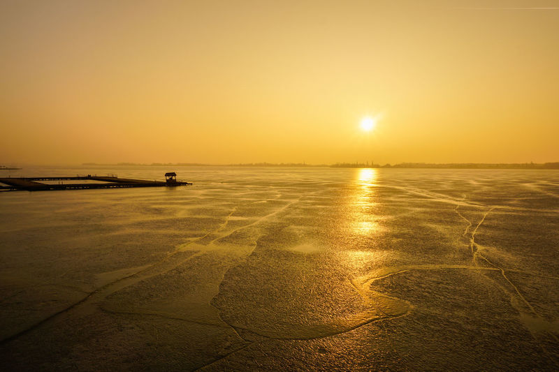 Palic Lake Beauty In Nature Horizon Over Water Lake Landscape Outdoors Reflection Sky Sun Sunlight Sunset Travel Water