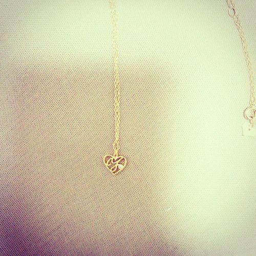 可愛いネックレスを発見‼ 自分のイニシャル「Y」が入ってます((*∀)) イニシャル ネックレス
