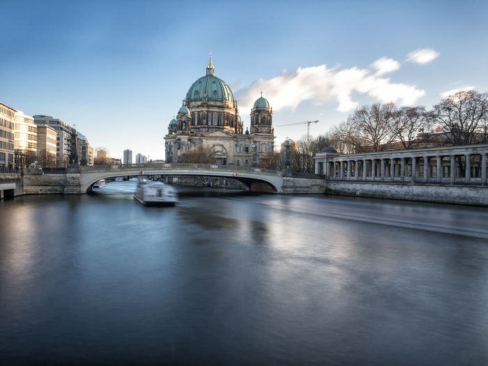 Architecture Berlin Bridge Building Exterior Cathedral City Cityscape Cloud - Sky Day Dome Germany Long Exposure No People Outdoors Reflection River Sky Tourism Travel Travel Destinations Urban Skyline Water Capture Berlin