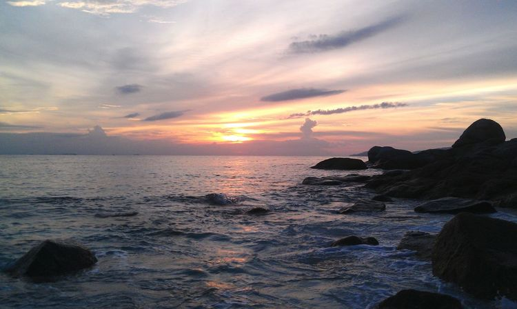 Seaside Stone Sea Rock - Object Rocky Mountains Nature Wave Outdoors Sunset Island Motion Waves, Ocean, Nature Waves And Rocks Wave Splash Water Beuty Of Nature Travel Sky Adverture Rocky Beach Scenics Shore Tranquility Oceanside Cold Temperature