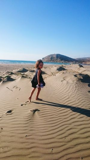 Sand One Person Beach Child Sand Dune Childhood Clear Sky Full Length People Leisure Activity Nature Sky Girl Quite Moments The New Normal Live For The Story