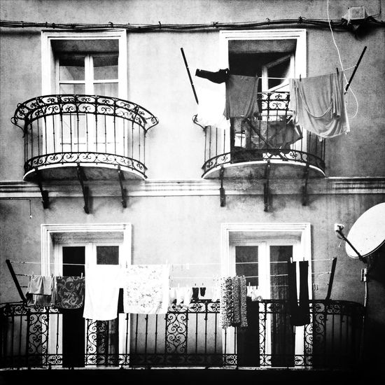 Balcony of building