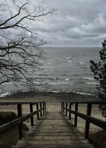 Sea Water Pier Beach Nature Horizon Over Water Tranquility Outdoors Beauty In Nature Tranquil Scene Wood - Material Cloud - Sky No People Sand Sky Clouds Baltic Sea Winter Baltic Sea Cold Temperature Nature Beauty In Nature Landscape Balticsea Nature_perfection Naturelovers