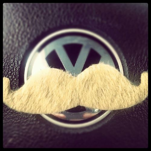 a new stache for my bug! #awesome #mustache