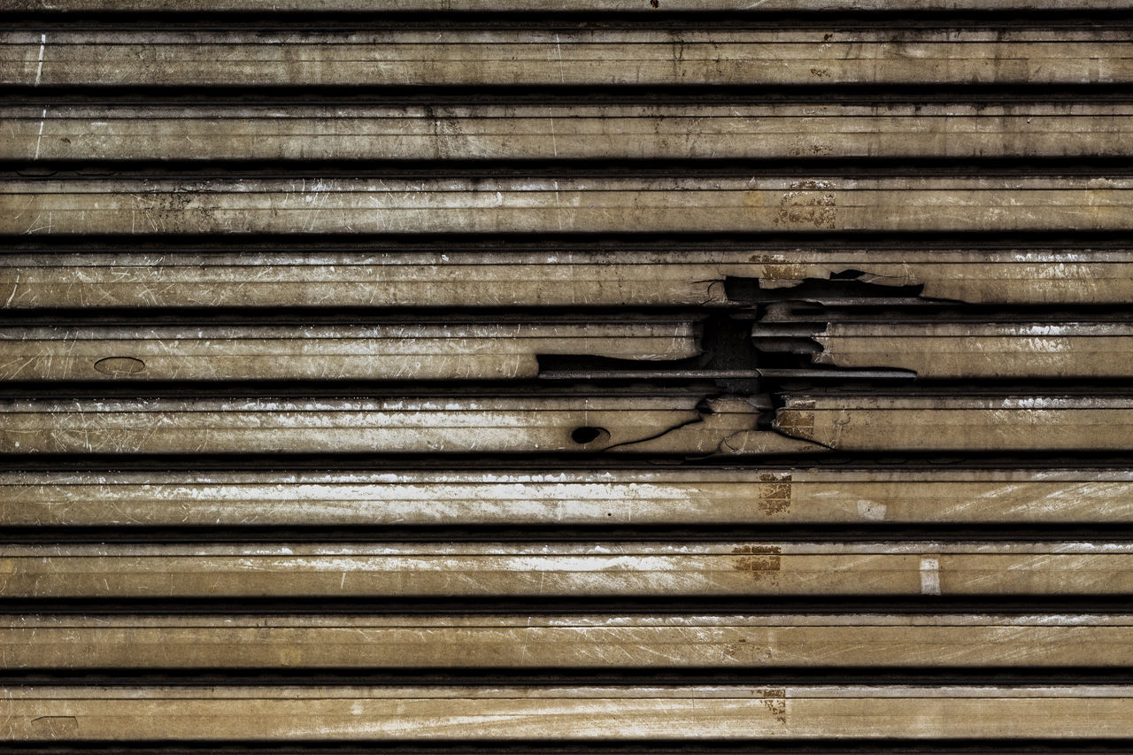 full frame, backgrounds, pattern, no people, metal, close-up, shutter, closed, day, repetition, wood - material, rusty, corrugated iron, indoors, security, wall - building feature, textured, protection, old, safety, iron, corrugated, iron - metal, wood grain