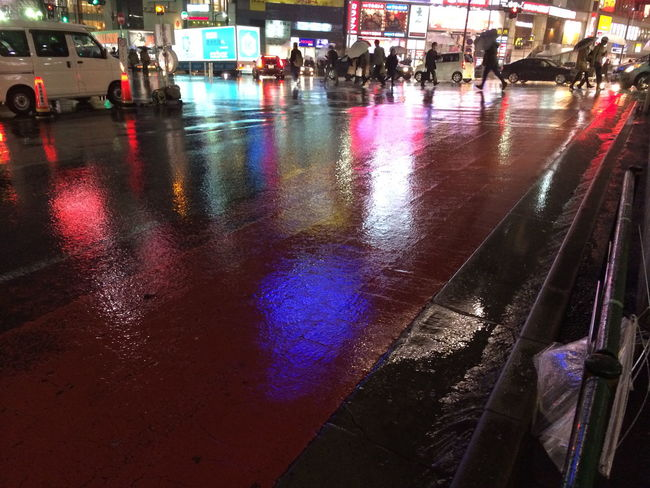 Car City Rain Rainy Rainy Season Road Shibuya Tokyo Weather Wet
