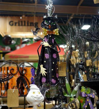 Halloween Happy Halloween! Halloween Props Metal Cat Black Cat Statuettes