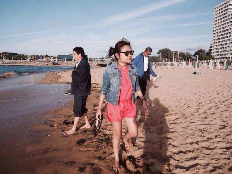 Summertime At The Beach Playadesanlorenzo Cuteeee♥♡♥