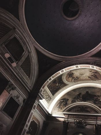 Ceiling Arch Place Of Worship Architecture Illuminated No People Day Cupola