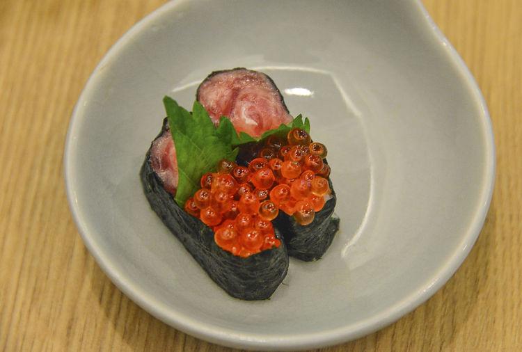 Sujiko Onigiri Sujiko Onigiri Asian Food Caviar Food Food And Drink Freshness Healthy Eating High Angle View Japanese Food Meat Rice Seafood Vegetable Wellbeing