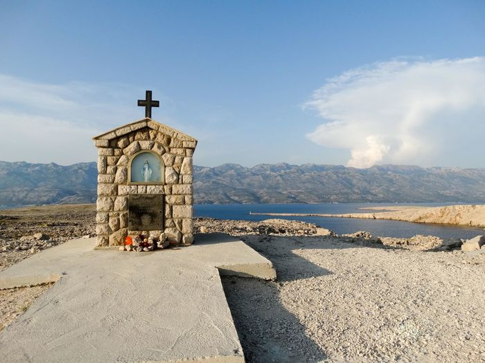Religious altar on mountain