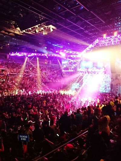 Crowd Enjoyment YSBH WV Wvbootcamp Peopleandplaces Large Group Of People Music Illuminated Audience Stage Light Event Performance Leisure Activity Youth Culture Fun Excitement Celebration People