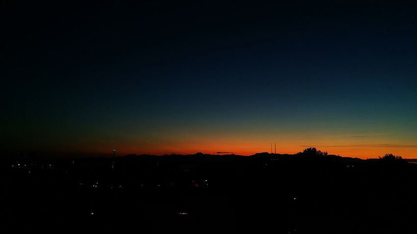 You should try to sleep, she said, but instead I lit another smoke. Silhouette Cityscape Horizon Over Land Dark Lonliest Place