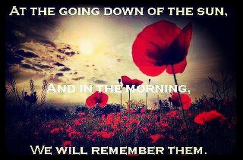 We will remember them! In Remembrance Of The Fallen 11-11-14 We Will Remember Them