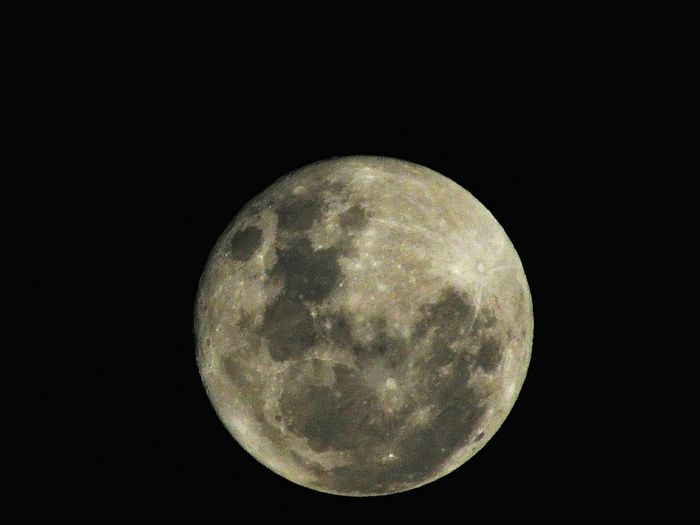 Moon against clear sky at night
