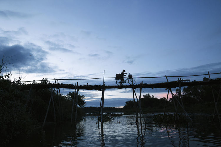 Bamboo bridge Afternoon Bamboo Bridge Heritage Photography River Travel Photography Vietnamtravel Village Life