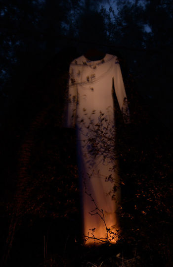 who am I? ... trying to find something to wear in the middle of nowhere Dress Dry Leaves EyeEmNewHere Spooky Atmosphere Darkness And Light Dry Flower  Dry Plants Movement Nature Night Orangeandblack Orangeandwhite Outdoors Shadow Spooky Forrest Surreal Tree Wind