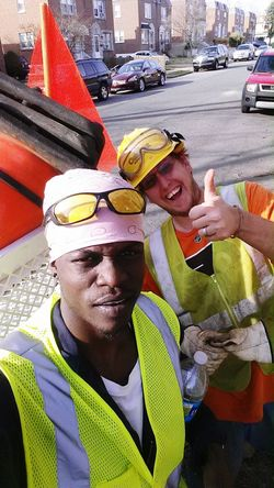 Say No To Racism Traveling Woking Construction Worker