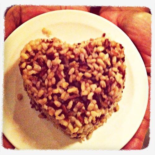 Valentine brown rice. Food Porn
