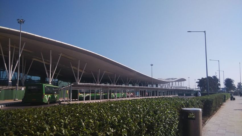 Architecture Bangaluru Airport Clear Sky Outdoors Mobilephotography