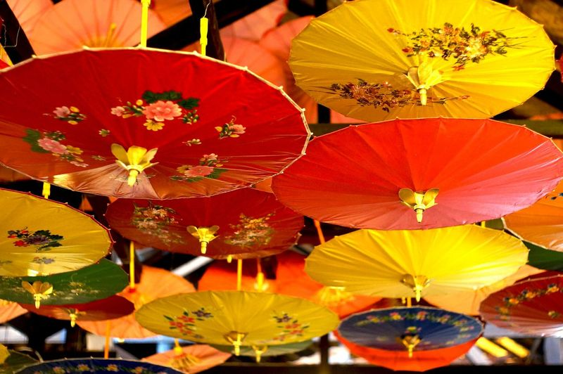 Low Angle View Of Umbrellas