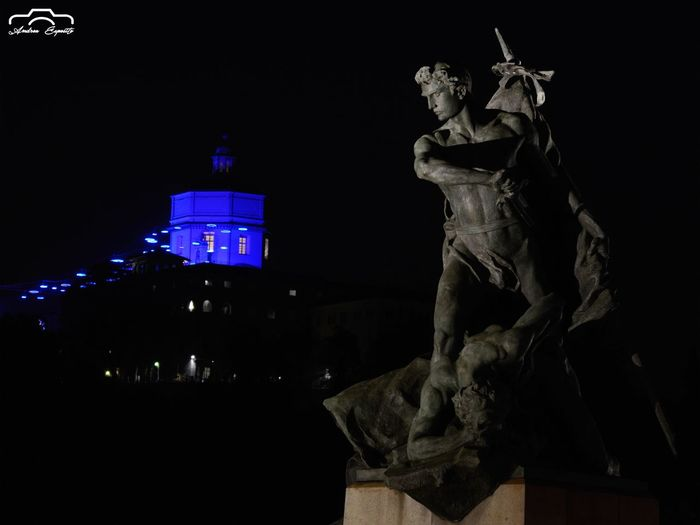 Sculture Torino Sculpture Architecture Night Built Structure Illuminated Sky History