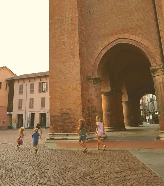 Architecture Day Outdoors Building Exterior City Teenage Girls Girls Only Travel Destinations Alba Piedmont Alba Cathedral Joy Of Life Joyful Moments
