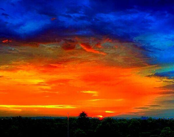 Sunset Nature Dusk Enjoying The Sunset Clouds And Sky