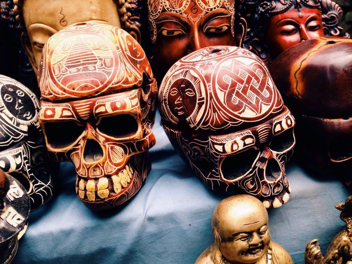 Skulls Decorative Skulls Decorative Nepal Katmandhu Street Market Street Markets In Nepal Trinkets Travel Travel Photos Travel Photography