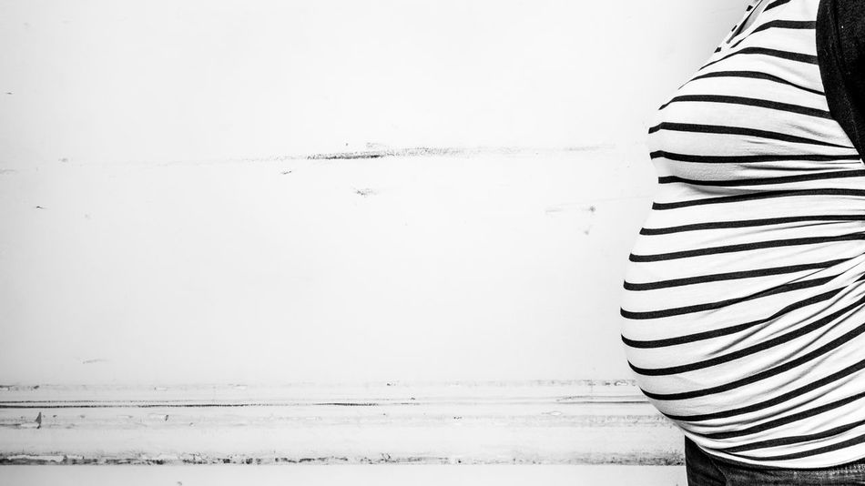 Best EyeEm Shot Adult Bestoftheday Black And White Body Part Casual Clothing Copy Space Day Eyem Best Shots Human Body Part Human Fertility Indoors  Midsection One Person Pattern Pregnant Real People Relaxation Standing Striped Textile Wall - Building Feature White Color Women Young Adult