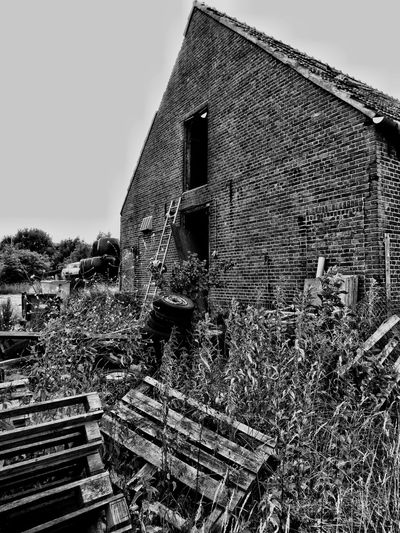Abandoned Postapocalyptic Old Shed Old House