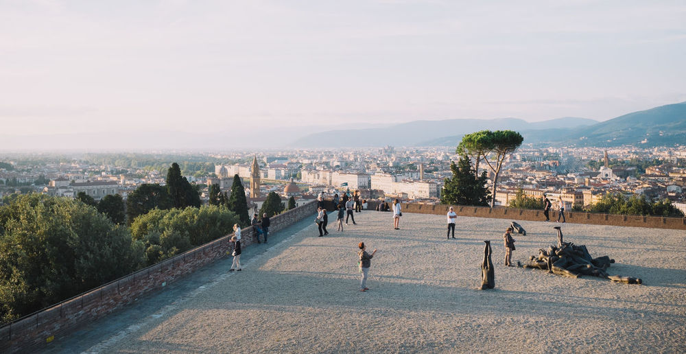 A terrace over Florence Cityscapes Clear Sky Fuji X100s FUJIFILM X100S Landscape Large Group Of People Outdoors Sky Sunset Sunset_collection Tourism Tourist Tranquil Scene Travel Destinations Vacations VSCO Vscofilm X100S