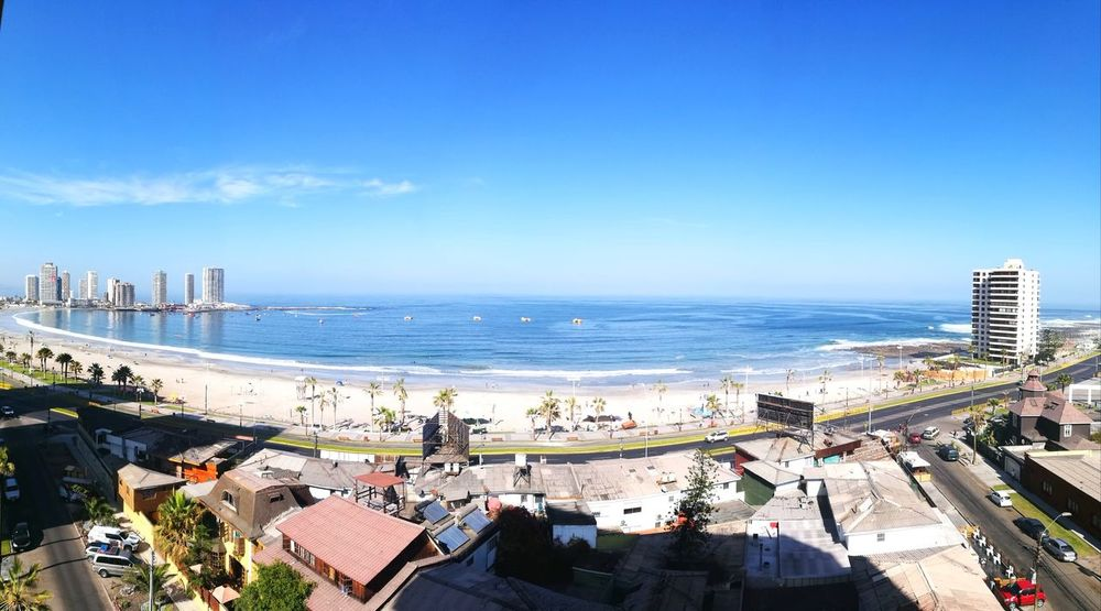 From my hotel room Happiness Is A Drug Beautifull Beach Relaxing Go Higher Cityscape Water Sea Beach Sand Blue