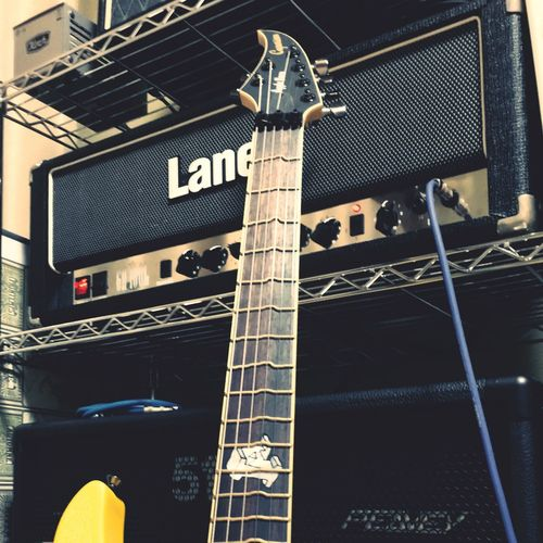 My guitar and amps Caparison Guitar Laney Peavey