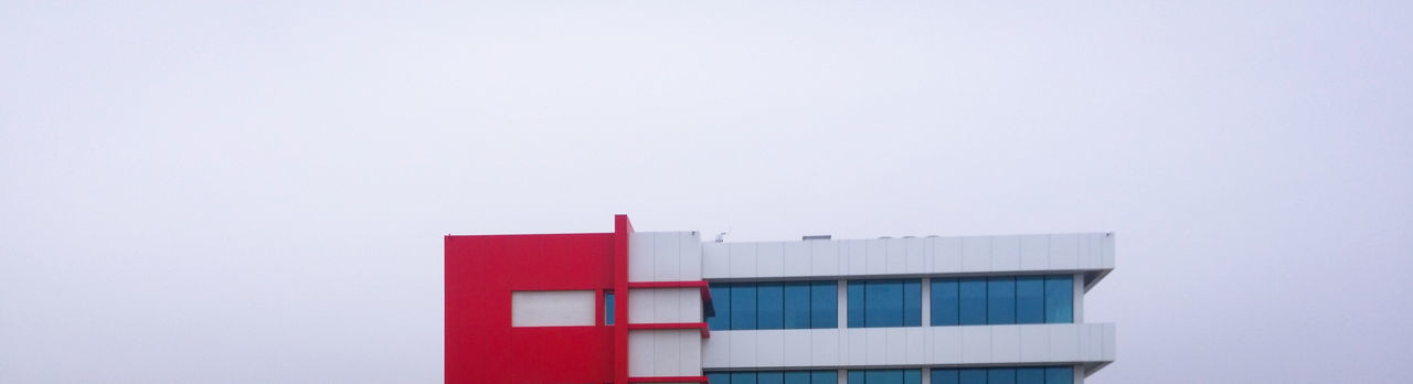 For the Love of Colors 🏢 🎨 Red Building Exterior Architecture White Sky White Sky Copy Space Architecture Legophotography Lego Building Architectural Column Usine Factory Streetphotography MnM MnMl Mnmlsm Minimalism Minimal Minimalistic Minimalmood Minimalist Minimalobsession
