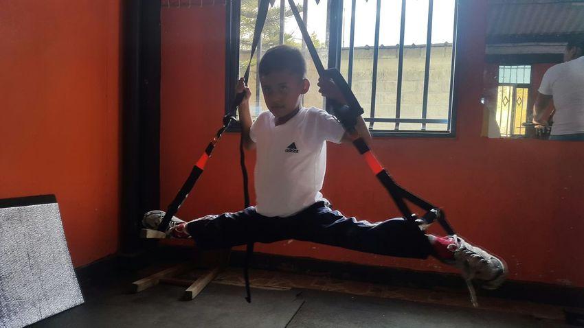 Alumno de karate do