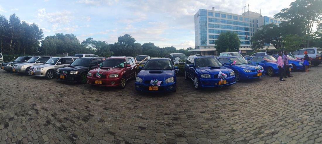 Subaru Wedding Convoy