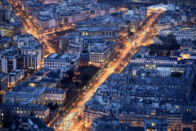 Night Lights Night Photography Nightphotography Paris Paris Je T Aime Paris ❤ Paris, France  ParisByNight Aerial View Architecture Building Exterior Built Structure City City Life Cityscape High Angle View Illuminated Night Night View Nightlife No People Outdoors Park Pattern Streetphotography