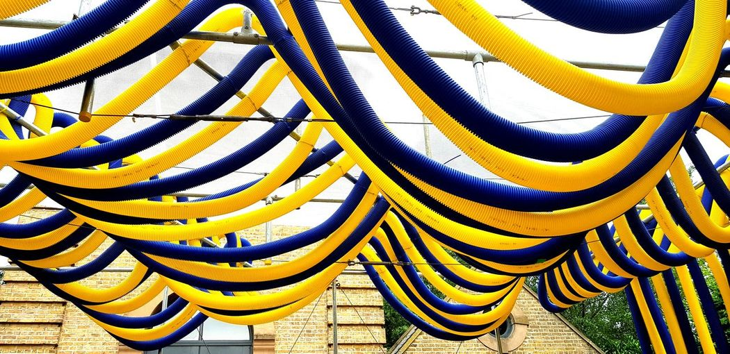 Art Entertainment Yellowandblue Yellow Blue Fantasy London EyeEm Eyeemmarket Backgrounds Full Frame Pattern Multi Colored Close-up Complexity Spiral Staircase Repetition LINE Intricacy