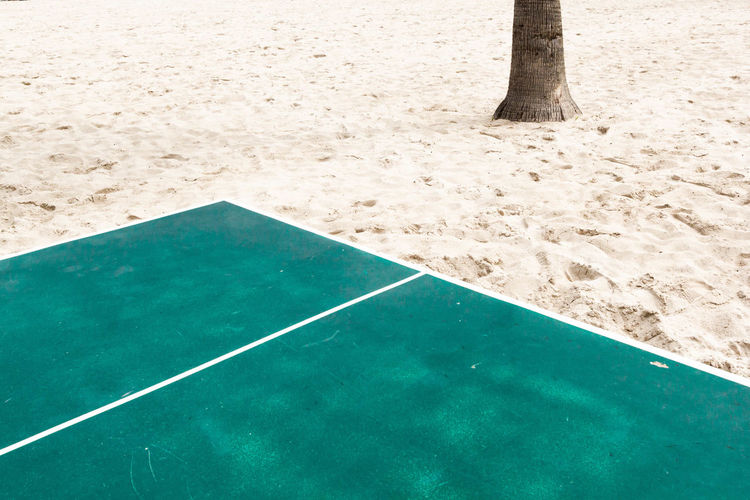 Court at beach