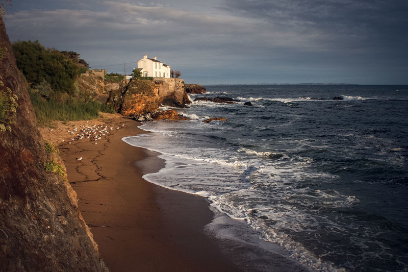 Bretagne Brittany Architecture Beach Beauty In Nature Building Exterior Built Structure Cloud - Sky Day Horizon Over Water Nature No People Ocean Outdoors Scenics Sea Sky Travel Destinations Water Wave