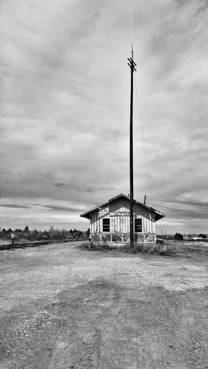 Sky Cloud - Sky Outdoors No People Day Old Train Station Train Station Alpine Old Building  Old Buildings West Texas Blackandwhite Blackandwhite Photography Black & White Fine Art Photography EyeEm Best Shots