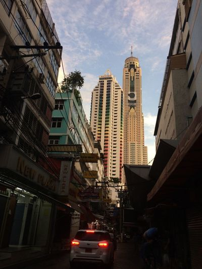 baiyoke tower in Architecture Building Exterior Built Structure City Tall - High Tower Tall Low Angle View Travel Destinations Outdoors Day Sky Cityscape Baiyoke Tower Baiyoke Sky Baiyoke Baiyoketower Baiyoke Tower II Baiyoke Sky Hotel bangkok Thailand